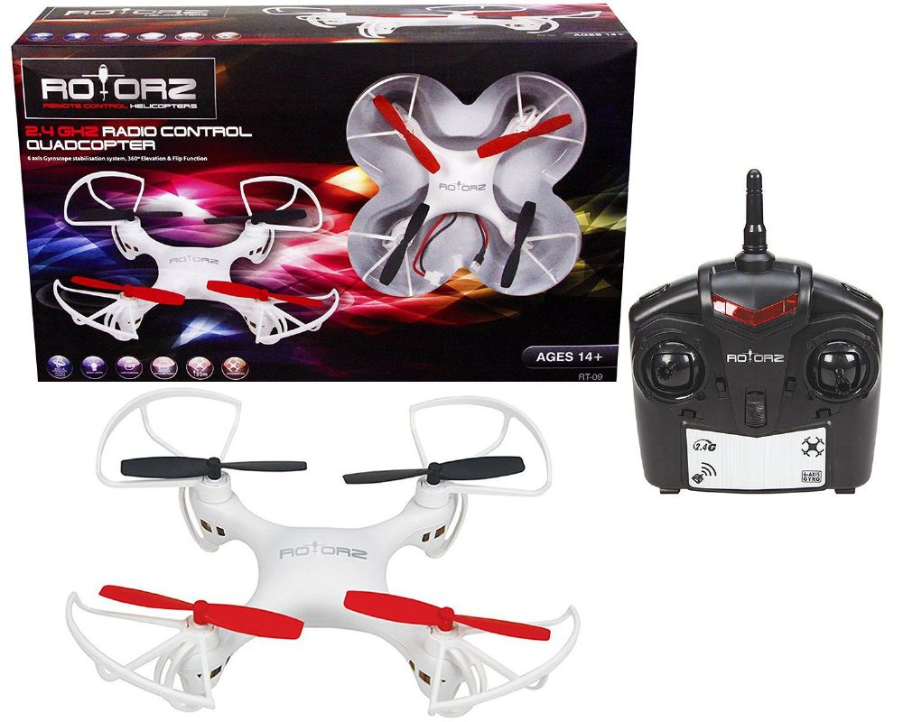 Rotorz RT-09 RC Radio Controlled Quadcopter Drone 2.4Ghz Christmas Gift Stocking filler